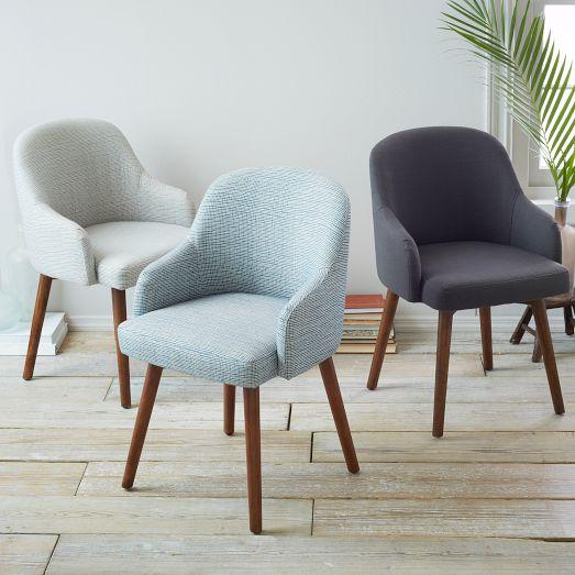 Saddle dining chairs west elm for West elm yellow chair