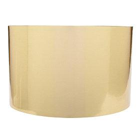Lighting - Park Avenue Gold Lampshade | The Company Store - gold lamp shade, gold drum shade, metallic gold drum shade, metallic gold lamp shade,