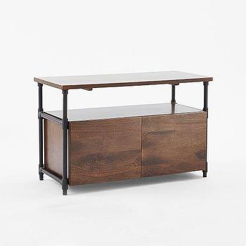 Pipe Media Console, Short, west elm