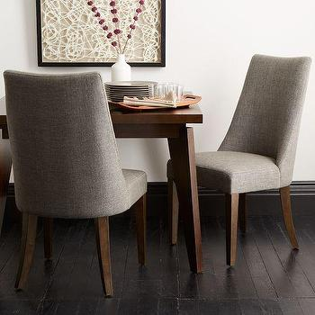 Seating - Sylvie Dining Chair | west elm - gray chair, gray dining chair, contemporary gray dining chair, upholstered gray dining chair,