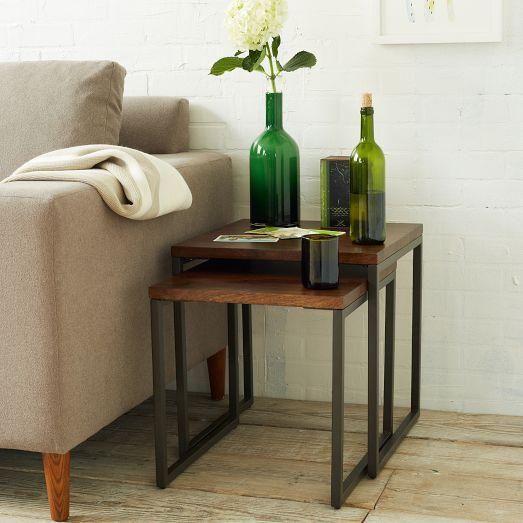 box frame nesting tables cafe west elm