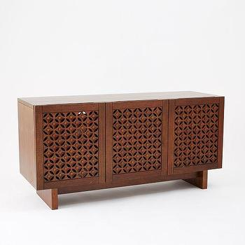 Carved Wood Media Console, west elm
