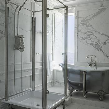 Freestanding Shower, Contemporary, bathroom, Kendall Wilkinson Design