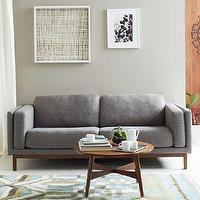 Seating - Dekalb Upholstered Sofa | west elm - gray sofa, modern gray sofa, contemporary gray sofa, mid-century style gray sofa,
