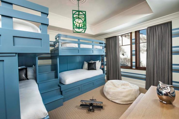 Bunk Bed Steps Contemporary Boy S Room Adam Hunter Inc