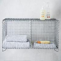 Art/Wall Decor - Wire Mesh Storage - Hanging Double Shelf | west elm - wire mesh storage, wire mesh shelf, wire mesh storage cubbies,