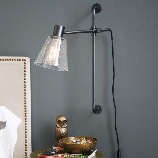 factory wall sconce west elm. Black Bedroom Furniture Sets. Home Design Ideas