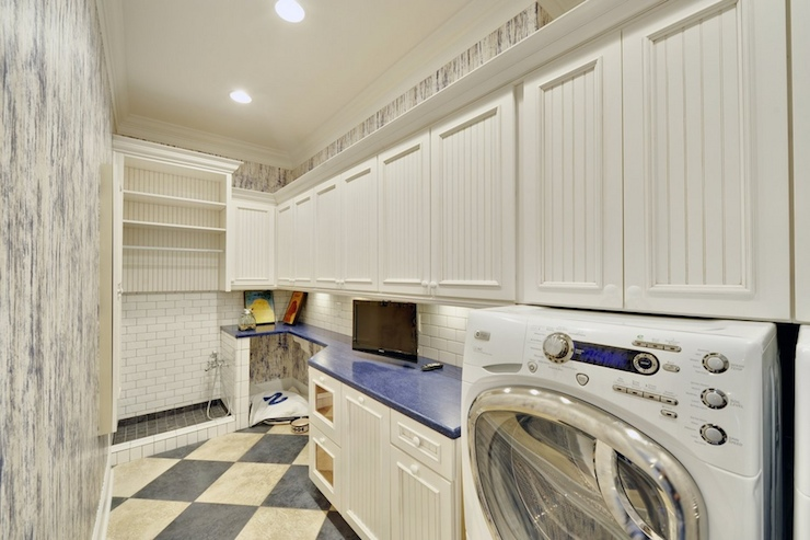 Laundry room ideas laundry room eclectic with tile floor mud room - Dog Shower Eclectic Laundry Room Echelon Custom Homes