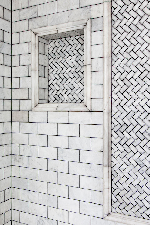 Shower Niche Transitional Bathroom Lonny Magazine
