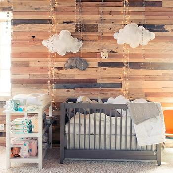 Gray Crib, Eclectic, nursery, The Coveteur