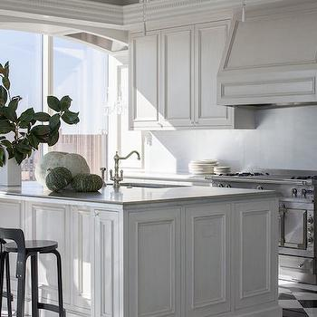 Polished Marble Backsplash, Transitional, kitchen, Kendall Wilkinson Design