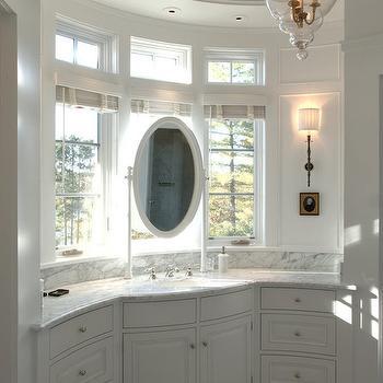 Curved Bathroom, Transitional, bathroom, TEA2 Architects