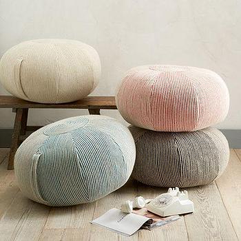 Seating - Round Swirl Felt Pouf | west elm - pink felt pouf, blue felt pouf, gray felt pouf, ivory felt pouf,