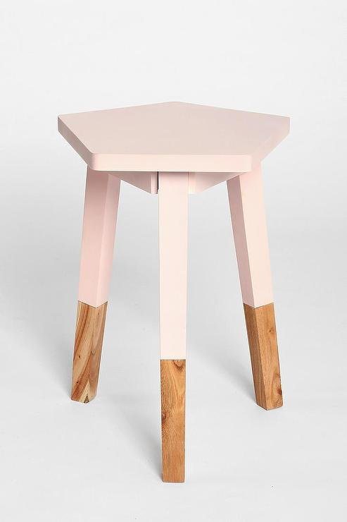 Plum bow pentagon dipped side table i urban outfitters