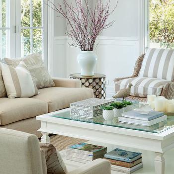 Beige Sofa With Nailhead Trim Living Room Farrow