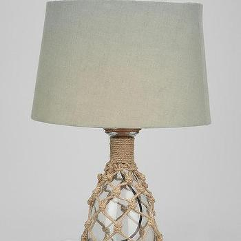 Lighting - 4040 Locust Rope Table Lamp I Urban Outfitters - jute and glass table lamp, jute rope table lamp, jute rope glass table lamp,