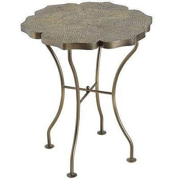 Tables - Hammered Flower Table I Pier 1 - hammered iron side table, hammered iron accent table, flower shaped iron side table,