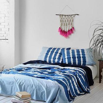 Noodle Indigo Stripe Bed Blanket I Urban Outfitters