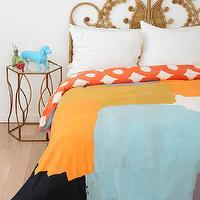 Bedding - Char-Bea By Ashley G Patches Duvet Cover I Urban Outfitters - abstract colorblock duvet, abstract colorblock bedding, abstract colorblock duvet cover,