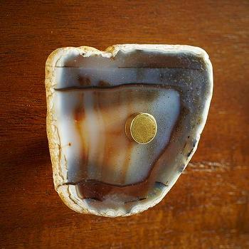 Decor/Accessories - Agate Knob - Dark Gray | west elm - agate hardware, agate cabinet pull, agate drawer pull,