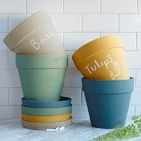 Decor/Accessories - Chalkboard Planter I west elm - chalkboard planter, chalkboard plant pot, colored chalkboard planter,