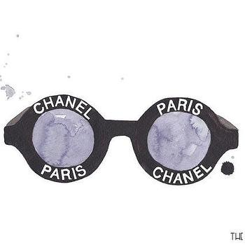 Art/Wall Decor - Chanel Sunglasses Print I Charm & Gumption - chanel sunglasses art, chanel sunglasses wall decor, chanel sunglasses wall art,