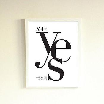 Art/Wall Decor - Say Yes Print I Charm & Gumption - say yes art print, say yes wall decor, say yes wall art, say yes quote, tina fey quote,