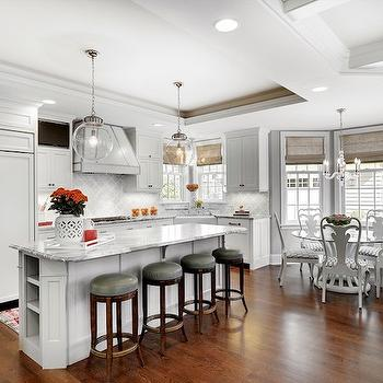 Gray Moldings Contemporary Kitchen Atmosphere