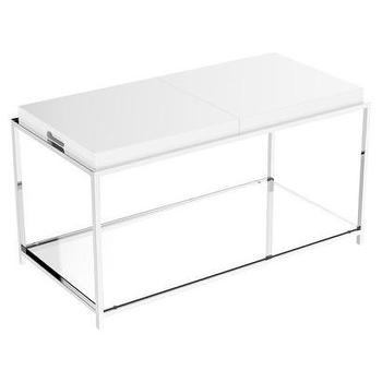 Tables - Coffee Table - White I Target - chrome coffee table with white top, white tray coffee table, white tray coffee table with chrome base,