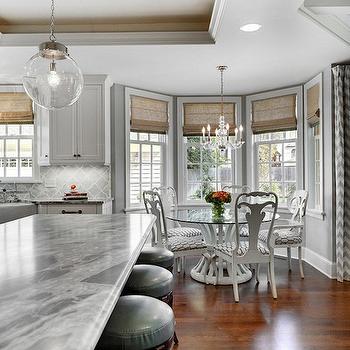 Bay Window Breakfast Nook, Transitional, kitchen, Great Neighborhood Homes