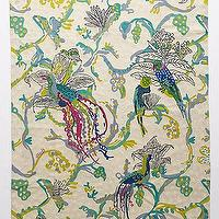 Rugs - Arakan Crewelwork Rug I anthropologie.com - crewelwork rug, bird patterned rug, bird and branches rug, bird patterned crewelwork rug,