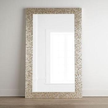 Tonal Capiz Floor Mirror I Neiman Marcus