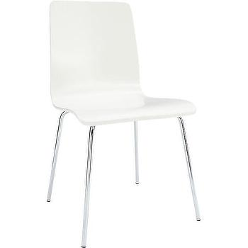 Seating - ideal white chair | CB2 - white chair, white mid-century modern chair, white chair with chrome legs,