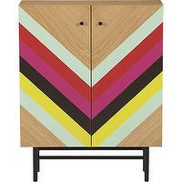 Storage Furniture - stella cabinet | CB2 - multi-colored cabinet, chevron striped cabinet, retro cabinet,