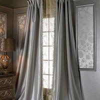 Mayfair Light Blue Cotton Damask Curtains