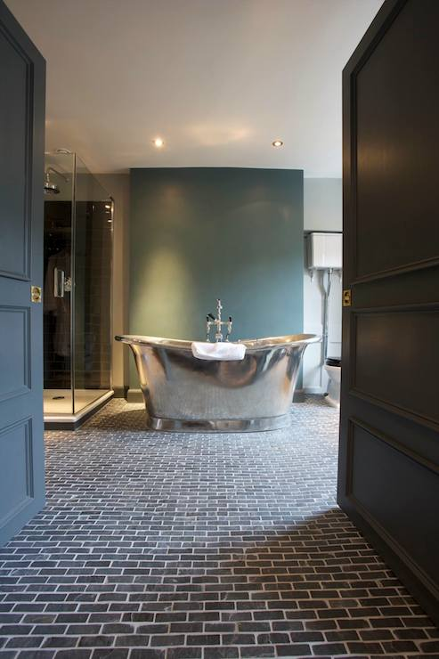Black Brick Tiles Bathroom With Original Styles In South Africa