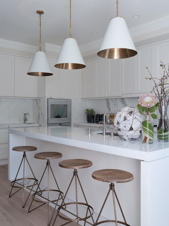 Contemporary Kitchen Benjamin Moore Ballet White