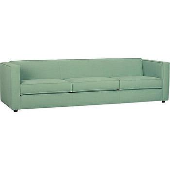 Seating - club spray 3-seater sofa | CB2 - contemporary green sofa, modern green sofa, green three seater sofa, green 3 seater sofa,