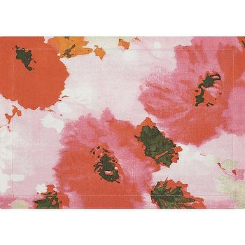 Decor/Accessories - focus placemat | CB2 - red floral placemat, red poppy placemat, abstract floral placemat,