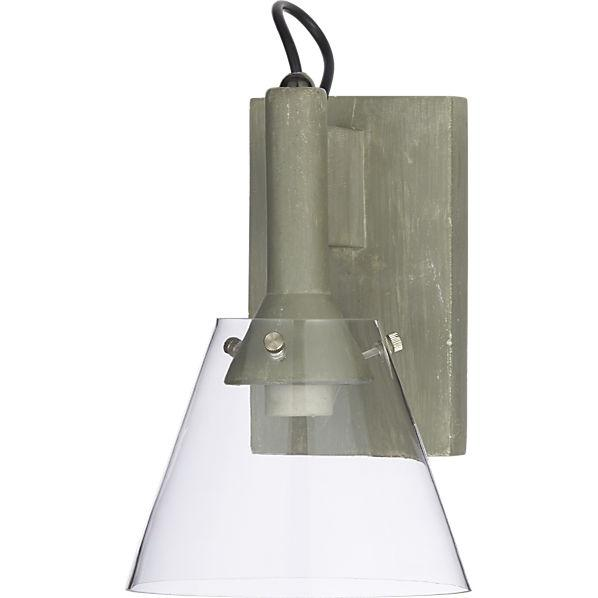 Cb2 Repeat Wall Sconces : concrete wall sconce CB2
