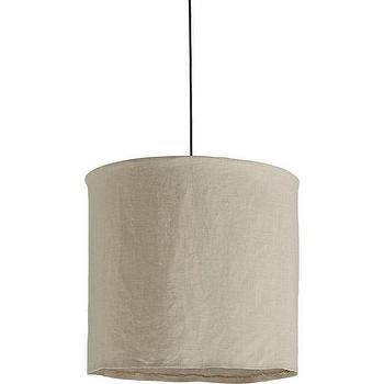 linen pendant lamp, CB2