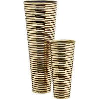Decor/Accessories - arm band vases | CB2 - copper and brass vase, brass ridged vase, tall brass vase,