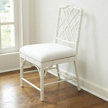 Seating - Set of 2 Dayna Side Chairs | Ballard Designs - white faux bamboo chair, white chinese chippendale chair, white bamboo side chair,