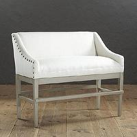 Seating - Marcello Counter Bench with Pewter Nails | Ballard Designs - counter height bench, counter bench with nailhead trim, ivory counter bench with nailhead trim,