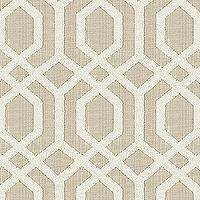 Fabrics - Halyard Natural | Ballard Designs - gray and cream geometric fabric, gray and cream fretwork fabric, gray and white geometric fabric,