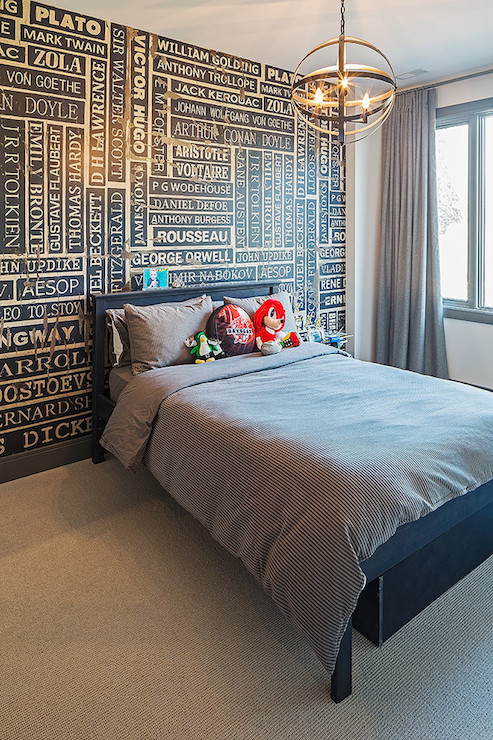 Accent Wall Ideas Contemporary Bedroom Peter A Seller