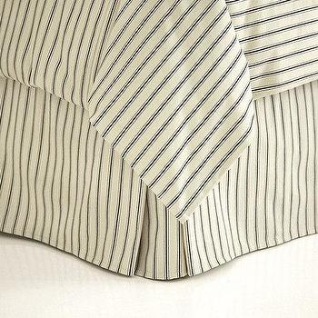 Ticking Stripe Duvet Black Ballard Designs