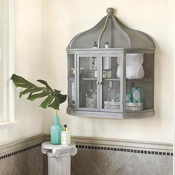 Storage Furniture - Aviary Birdcage Decorative Shelf | Ballard Designs - birdcage shelf, birdcage shaped shelf, birdcage display shelf,