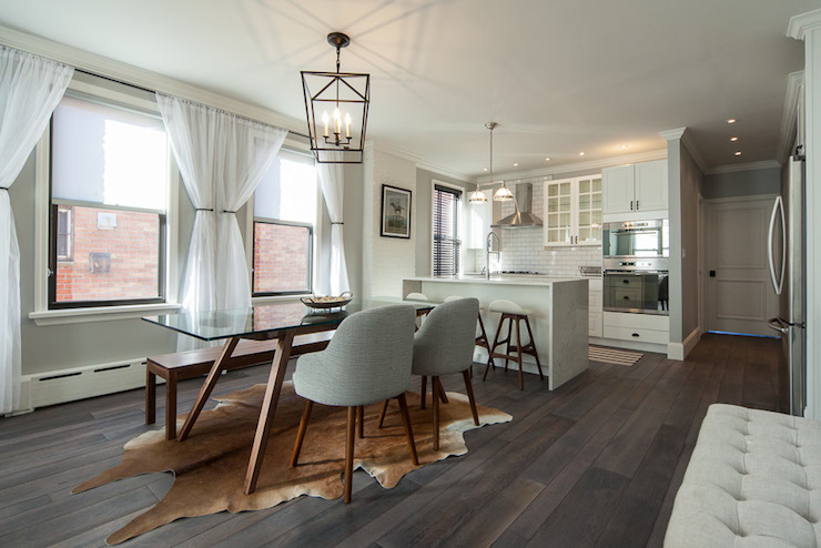 Open Plan Kitchen Transitional Dining Room Design Sponge