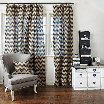 Window Treatments - Chevron Burlap Panel | Ballard Designs - chervon burlap panel, chevron burlap drapes, chevron burlap curtains,